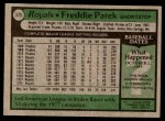 1979 Topps #525  Freddie Patek  Back Thumbnail
