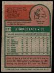 1975 Topps #631  Lee Lacy  Back Thumbnail