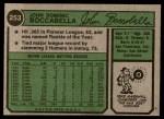 1974 Topps #253  John Boccabella  Back Thumbnail
