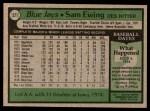 1979 Topps #521  Sam Ewing  Back Thumbnail