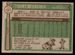 1976 Topps #427  Kurt Bevacqua  Back Thumbnail