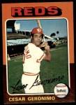 1975 Topps #41  Cesar Geronimo  Front Thumbnail