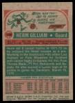 1973 Topps #106  Herm Gilliam  Back Thumbnail