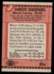1990 Topps #469  Deion Sanders  Back Thumbnail
