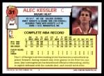 1992 Topps #31  Alec Kessler  Back Thumbnail