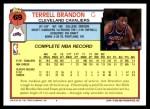 1992 Topps #69  Terrell Brandon  Back Thumbnail