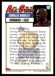 1992 Topps #107   -  Charles Barkley All-Star Back Thumbnail
