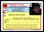1992 Topps #128  Robert Pack  Back Thumbnail