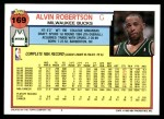 1992 Topps #169  Alvin Robertson  Back Thumbnail
