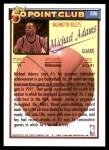 1992 Topps #206   -  Michael Adams 50 Point Club Back Thumbnail