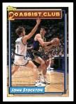 1992 Topps #223   -  John Stockton 20 Assist Club Front Thumbnail