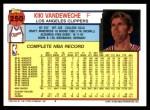 1992 Topps #250  Kiki Vandeweghe  Back Thumbnail