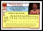 1992 Topps #252  Travis Mays  Back Thumbnail