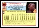 1992 Topps #288  Anthony Peeler  Back Thumbnail