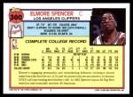 1992 Topps #300  Elmore Spencer  Back Thumbnail