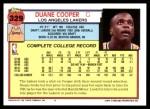 1992 Topps #329  Duane Cooper  Back Thumbnail