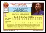 1992 Topps #336  Tracy Moore  Back Thumbnail