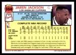 1992 Topps #358  Jaren Jackson  Back Thumbnail