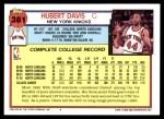 1992 Topps #381  Hubert Davis  Back Thumbnail