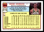 1992 Topps #384  Eddie Johnson  Back Thumbnail