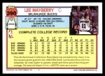 1992 Topps #390  Lee Mayberry  Back Thumbnail