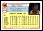 1992 Topps #39  Orlando Woolridge  Back Thumbnail