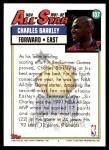 1992 Topps #107   -  Charles Barkley All-Star Back Thumbnail