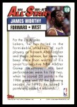 1992 Topps #108   -  James Worthy All-Star Back Thumbnail