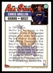 1992 Topps #120   -  Chris Mullin All-Star Back Thumbnail