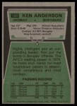 1975 Topps #160  Ken Anderson  Back Thumbnail
