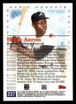 2000 Topps #237 A  -  Hank Aaron 1st Career HR - Magic Moments Back Thumbnail