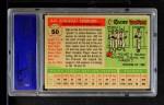 1955 Topps #50  Jackie Robinson  Back Thumbnail