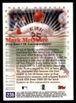 2000 Topps #236 E  -  Mark McGwire 500th Career HR - Magic Moments Back Thumbnail