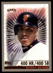 2000 Topps #476 A  -  Barry Bonds 400 Homeruns / 400 Stolen Bases Career - Magic Moments Front Thumbnail