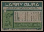 1977 Topps #193  Larry Gura  Back Thumbnail