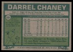 1977 Topps #384  Darrel Chaney  Back Thumbnail
