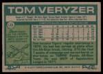 1977 Topps #145  Tom Veryzer  Back Thumbnail