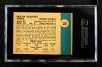 1961 Fleer #39  Dolph Schayes  Back Thumbnail