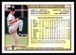 1999 Topps #44  Justin Thompson  Back Thumbnail