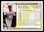 1999 Topps #68  Kenny Lofton  Back Thumbnail