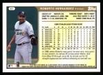 1999 Topps #81  Roberto Hernandez  Back Thumbnail
