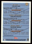 1999 Topps #209  Pat Cline / Ramon Hernandez / Jayson Werth  Back Thumbnail