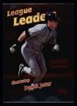 1999 Topps #230   -  Derek Jeter League Leaders Front Thumbnail