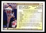 1999 Topps #354  Jarrod Washburn  Back Thumbnail