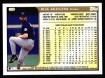 1999 Topps #158  Rick Aguilera  Back Thumbnail
