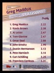 1999 Topps #231   -  Greg Maddux League Leaders Back Thumbnail