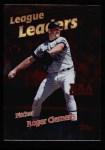 1999 Topps #232   -  Roger Clemens AL ERA Leaders Front Thumbnail