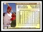 1999 Topps #315  Rafael Palmeiro  Back Thumbnail
