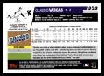 2006 Topps #353  Claudio Vargas  Back Thumbnail