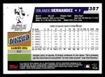 2006 Topps #357  Orlando Hernandez  Back Thumbnail